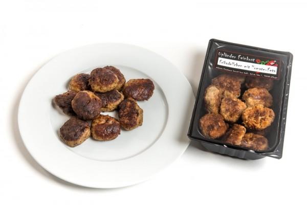 Mini-Frikadellen mit Tomaten-Feta Hausfrauen Art gebraten