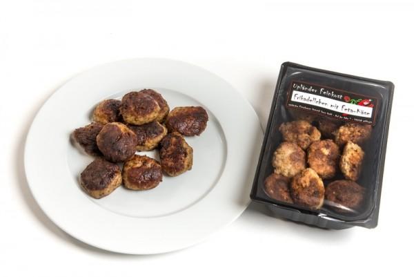 Mini-Frikadellen mit Feta-Käse Hausfrauen Art gebraten
